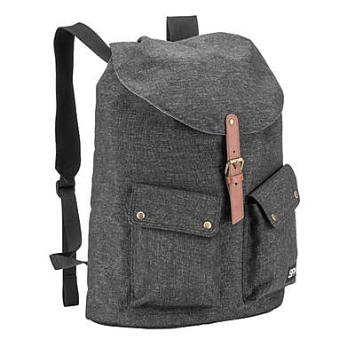 Spy Collective Vista Gray Polyester Flip Top Laptop Backpack (SW-YB5006)