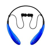 Supersonic® IQ127BT Stereo Bluetooth Behind-the-Neck Headphones with Mic, Blue