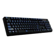 Thermaltake® Tt eSPORTS® KB-PIZ-KLBLUS-01 Poseidon Z Wired USB Keyboard for Computer, Black