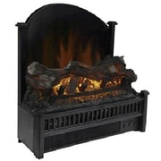"World Marketing Comfort Glow™ Electric Log Heater with Reflecting Panel, 11 1/2"" x 23"" x 21 3/4"", Black (ELCG347)"