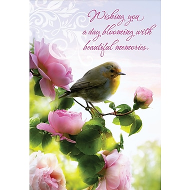 Millbrook Wishing You a Day Greeting Card, 18/Pack, (23620)