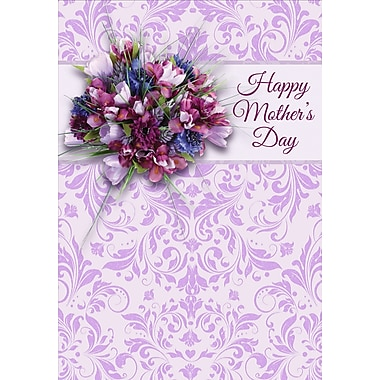 Millbrook Happy Mother's Day Greeting Card, Crocus, 18/Pack, (23577)