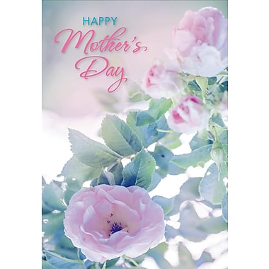 Millbrook Happy Mother's Day Greeting Card, Roses, 18/Pack, (23576)