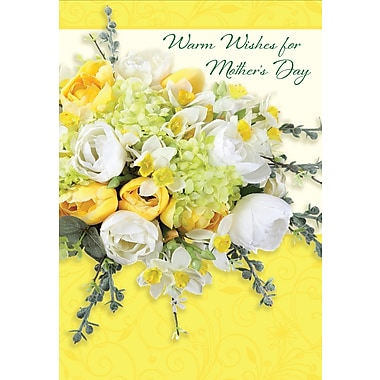 Millbrook Warm Wishes for Mother's Day Greeting Card, Roses, 18/Pack, (23572)
