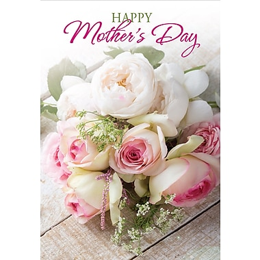Millbrook Happy Mother's Day Greeting Card, Peonies, 18/Pack, (23568)