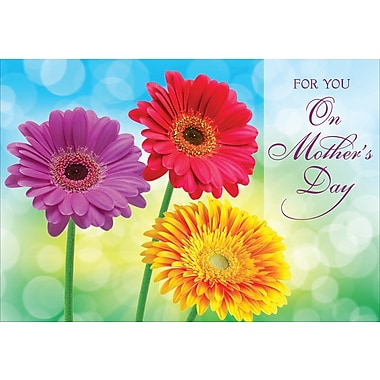 Millbrook For You on Mother's Day Greeting Card, Daisies, 18/Pack, (23567)