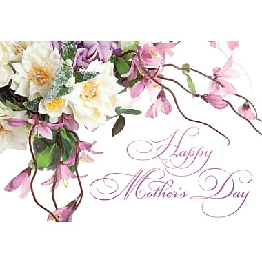 Millbrook Happy Mother's Day Greeting Card, Roses, 18/Pack, (23566)