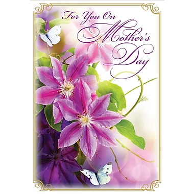 Millbrook For You on Mother's Day Greeting Card, Morning Glory, 18/Pack, (23565)