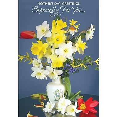 Millbrook Especially for You - Flowers Greeting Card, Daffodil, 18/Pack, (23407)