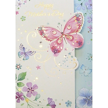 Rosedale Happy Mother's Day Greeting Card, Butterfly, 12/Pack, (39957)
