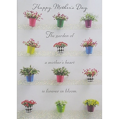 Rosedale Happy Mother's Day Garden Greeting Card, 12/Pack, (39967)