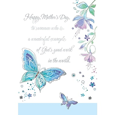 Rosedale Happy Mother's Day Greeting Card, Two Butterflies, 12/Pack, (39971)