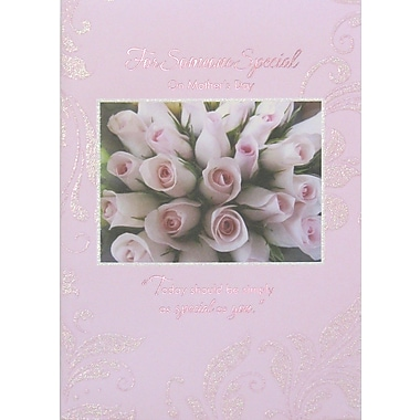 Rosedale For Someone Special Greeting Card, Pink Roses, 12/Pack, (39974)