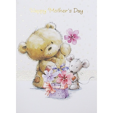 Rosedale Happy Mother's Day Greeting Card, Bear, 12/Pack, (39979)