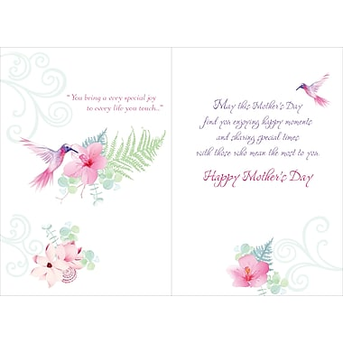 Rosedale Especially For You Greeting Card, Hummingbirds, 12/Pack, (39952)