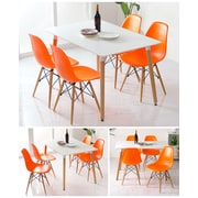 eModern Decor Slope Shell Side Chair; Orange