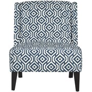 Handy Living Bond Slipper Chair; Midnight Blue