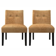 Handy Living Nate Side Chair (Set of 2); Rust Autumn Orange