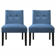 Handy Living Nate Side Chair (Set of 2); Ocean Blue