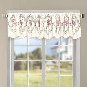 Serenta Roses Embroidered 60'' Curtain Valance; Light Pink