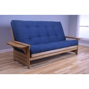Kodiak Furniture Phoenix Queen Futon and Mattress; Suede Navy