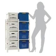 Bin Warehouse 11'' H x 13'' W x 20'' D 8 Filebox/Tote Storage System