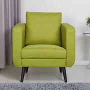 Gold Sparrow Fargo Arm Chair; Lime
