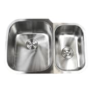 eModern Decor Ariel Pearl 29'' x 20.75'' Double Bowl Kitchen Sink