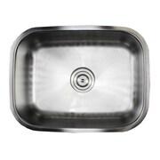 eModern Decor Ariel Pearl 23.38'' x 17.75'' Single Bowl Kitchen Sink