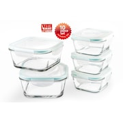 The Glass 10 Piece Square Food Container Set