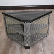 Wicked Wicker Mishka Side Table; Deep Brown / Taupe