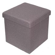 BirdRock Home Folding Storage Ottoman; Light Gray