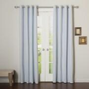 Best Home Fashion, Inc. Premium Cotton Twill Grommet Top Curtain Panels (Set of 2); Sky Blue