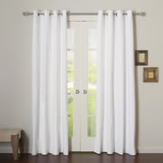 Best Home Fashion, Inc. Premium Cotton Twill Grommet Top Curtain Panels (Set of 2); White