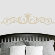 SweetumsWallDecals Elegant Accent Scroll Flourish Wall Decal; Light Beige