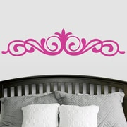 SweetumsWallDecals Elegant Accent Scroll Flourish Wall Decal; Hot Pink