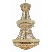 Elegant Lighting Primo 32 Light  Chandelier with Crystal; 30'' / Chrome / Elegant Cut