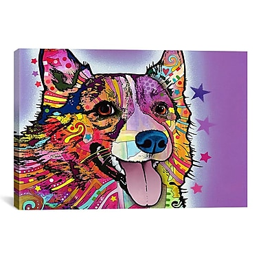 iCanvas 'Corgi' by Dean Russo Graphic Art on Canvas; 18'' H x 26'' W x 1.5'' D