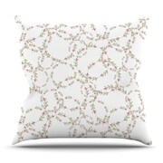 KESS InHouse Evergreen Wreaths by Emma Frances Outdoor Throw Pillow