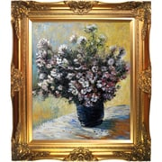 Tori Home Vase of Flowers by Monet Framed Hand Painted Oil on Canvas