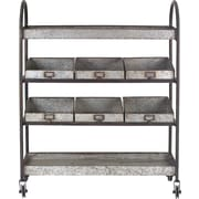 Creative Co-Op Casual Country Bar Cart