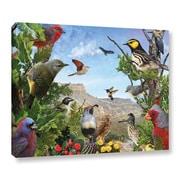 ArtWall Texas Birds by Chris Vest Painting Print on Gallery Wrapped Canvas; 18'' H x 24'' W x 2'' D