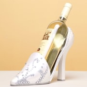 Cypress Wedding High Heel Shoe 1 BottleTabletop Wine Rack
