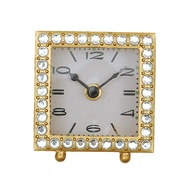 Creative Co-Op Flirt Square Pewter Clock