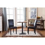 Roundhill Furniture Urban Parson Chair (Set of 2); Black