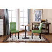 Roundhill Furniture Urban Parson Chair (Set of 2); Green