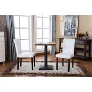 Roundhill Furniture Urban Parson Chair (Set of 2); White