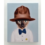 Empire Art Direct Pets Rock  ''Purrell'' Graphic Art on Wrapped Canvas