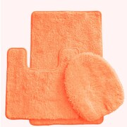 Daniels Bath Luxury 3 Piece Bath Rug Set; Peach