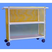 Care Products, Inc. Deluxe 2-Shelf Tall Linen Cart w/ Cover